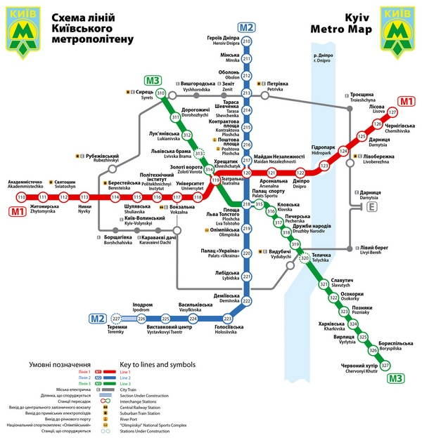 Kyiv subway schema